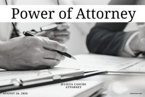 Power of Attorney by Julieta Canche